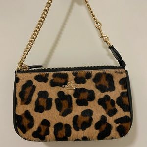 Coach leopard small bag